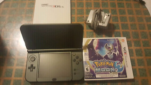 Black 3ds mint condition pokemon sun and moon