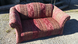 chesterfield and love seat, excellent condition