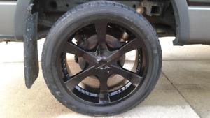 Ford F-150 Chevy rims and tires