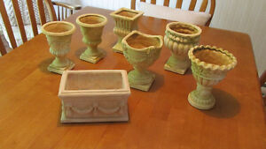 """""""Mini - Urn"""" Flower Pots (antique look) - new / never used - $4"""