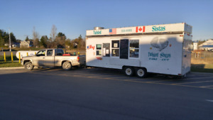 Food Truck (22ft box trailer) for sale