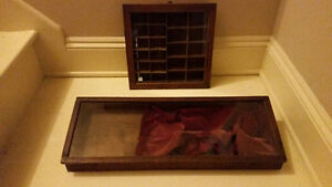 2 Antique display cabinets