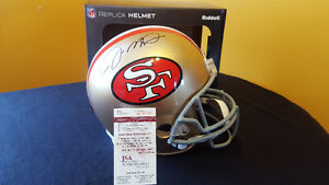 Joe Montana Signed Full Size Replica Football Helmet with COA