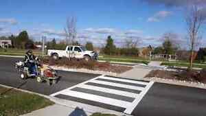 Parking Lot Line Painting - Pavement Markings - Crack Sealing  Kitchener / Waterloo Kitchener Area image 1