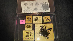 "Stampin Up Wood Stamps ""Extreme Elements"" Scrapbooking Card NEW"