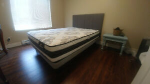 New mattress and bed frame for sale.