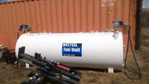Westeel fuel vault dual wall 2 compartment fuel tank