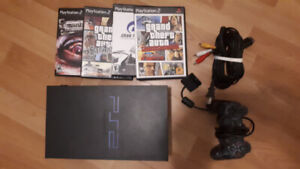 Playstation 2 + controller + games