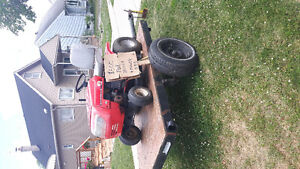mtd riding mower and 4/8 ft trailer