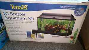 10 gallon fish tank and set up