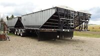 2 Sets of 2015 Super B Grain Trailers LODE KING