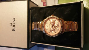 Bulova Rose Gold Ladies Watch