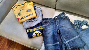 SOCCER/BASKETBALL SHIRTS & JEANS $1 EACH ( 8 YRS KIDS)