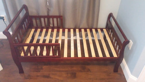 Sturdy all wood toddler bed