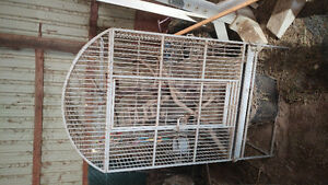 Parrot cage w stand and toys