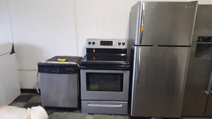 Frigidaire fridge stove and dishwasher