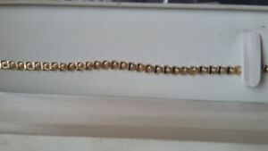 10.1 gm Gold Plated 925 Tennis Bracelet