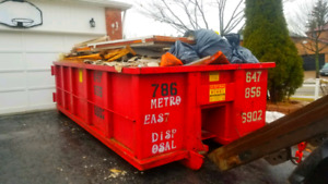 DISPOSAL BIN RENTALS! FLAT RATES GARBAGE JUNK WASTE REMOVAL!