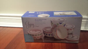 Brand new in box ceramic Gypsy microwavable bowls