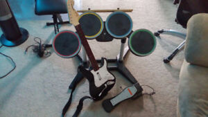 Original Rock Band Nintendo Wii Instruments