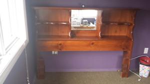 Selling Solid wood queen headboard