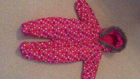 Tu pink snowsuit 3-6 months