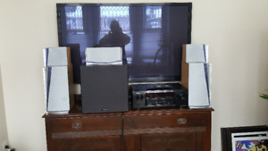 Surround Sound Receiver, Subwoofer and Speakers