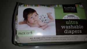 Kushies ultra washable diaper 5 pack