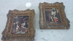 Two Vintage Framed Prints, Fancy Frames