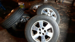 Subaru Summer Tires and 1 Spare in Good Condition with Rims