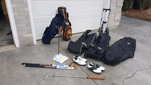 Golf accessories and field hockey sticks