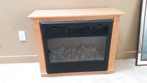 Hand crafted electric fireplace