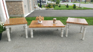 County chic coffee table set..