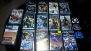15 psp games and 2 movies