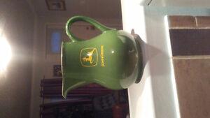 John Deere milk jug