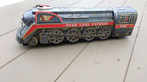 1960's Battery Operated Over Land Express Tin Train – in very go