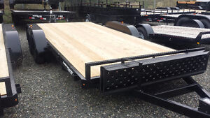 7' x 16' Open Car hauler/Flat Deck Trailer.