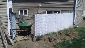 Chainlink Fence and Gate with Privacy Panels