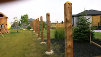 fence posts drilled and set right the first time