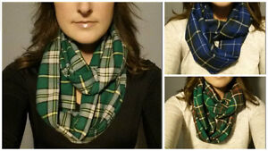 Hand-Crafted, Tartan Infinity Scarves $20 each