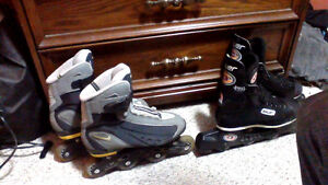 Nike and Bauer roller blades. Cambridge Kitchener Area image 1