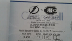 Montreal canadiens vs Tampa Bay Oct 27