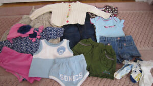 Girls summer clothes 6 - 12 months with 18 hangers