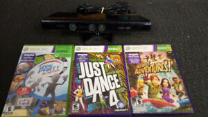 Xbox 360 Kinect w/ 3 games