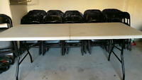 Folding Chairs Tables Food Warmers for Rent