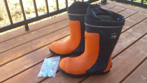 Viking steel toed boots size 9