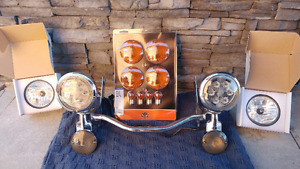 HARLEY-DAVIDSON, PHARES AUXILIAIRES / PASSING LAMPS.  AU DEL
