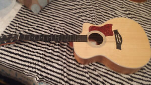 Taylor 214CE Koa with fitted BONE saddle, nut, pins