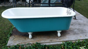 Old bathtub with original feet