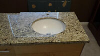Bathroom Granite Top Vanity.